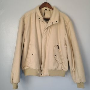 Members only bomber wool jacket